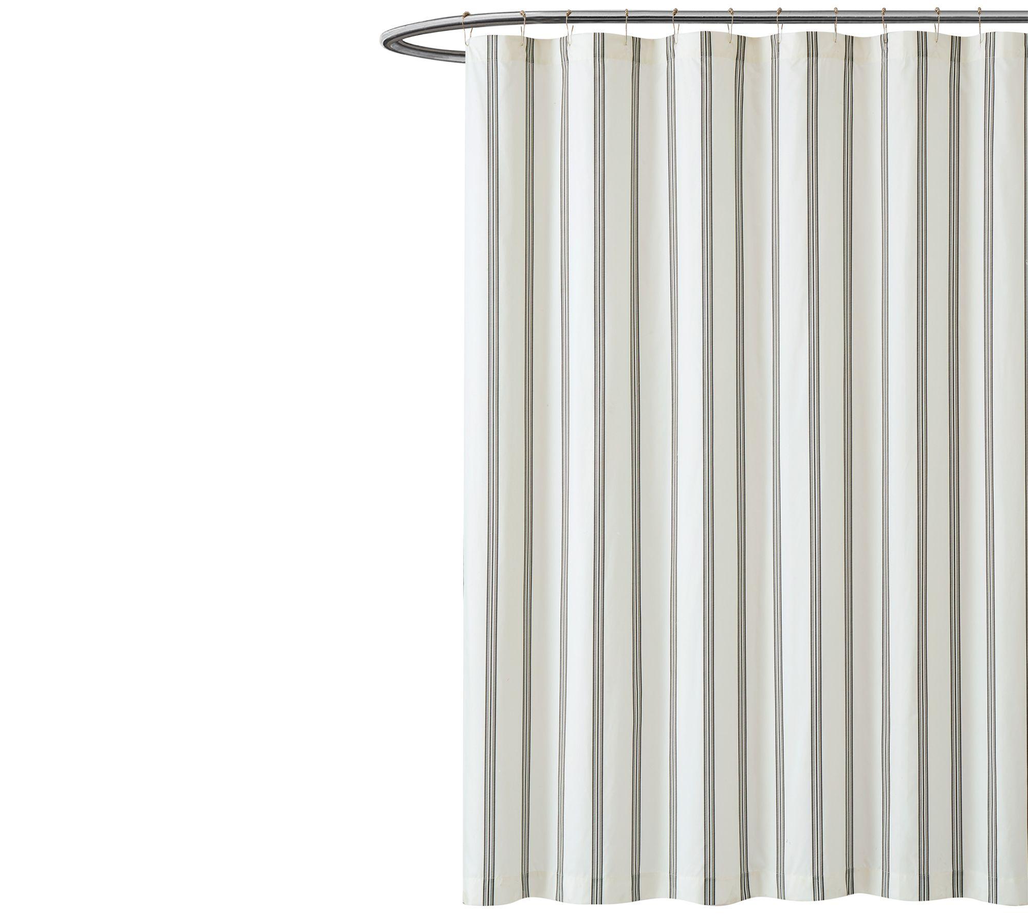 Truly Soft Millennial Stripe Shower Curtain Qvc Com