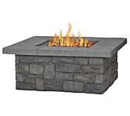 Real Flame Sedona Square Fire Table w/ Nat GasConversion Kit - H370442