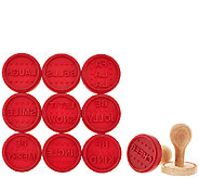 ED On Air Set of 10 Cookie Stamps w/ 2 Handles by Ellen DeGeneres - H207043