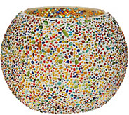Jeweled Mosaic Rose Bowl w/ Microlights by Valerie - H214943