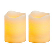 Candle Impressions S/2, 4 Rustic Flameless Pillar Candles - H283243
