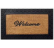 Geo Crafts Tuffcor Flat Weave Welcome Door Mat - H283843