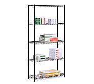 Honey-Can-Do Five-Tier Black Storage Shelves -200 lbs - H184044