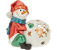 Kringle Express 17 Illuminated Snowball Friend with Flameless Candle - H211544