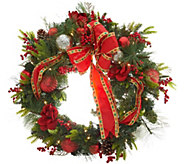 Indoor/Outdoor Illuminated 31 Holiday Cheer Wreath by Valerie - H216544