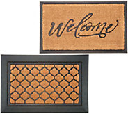 Inspire Me! Home Decor Doormat with (2) Mats & Rubber Base - H217344