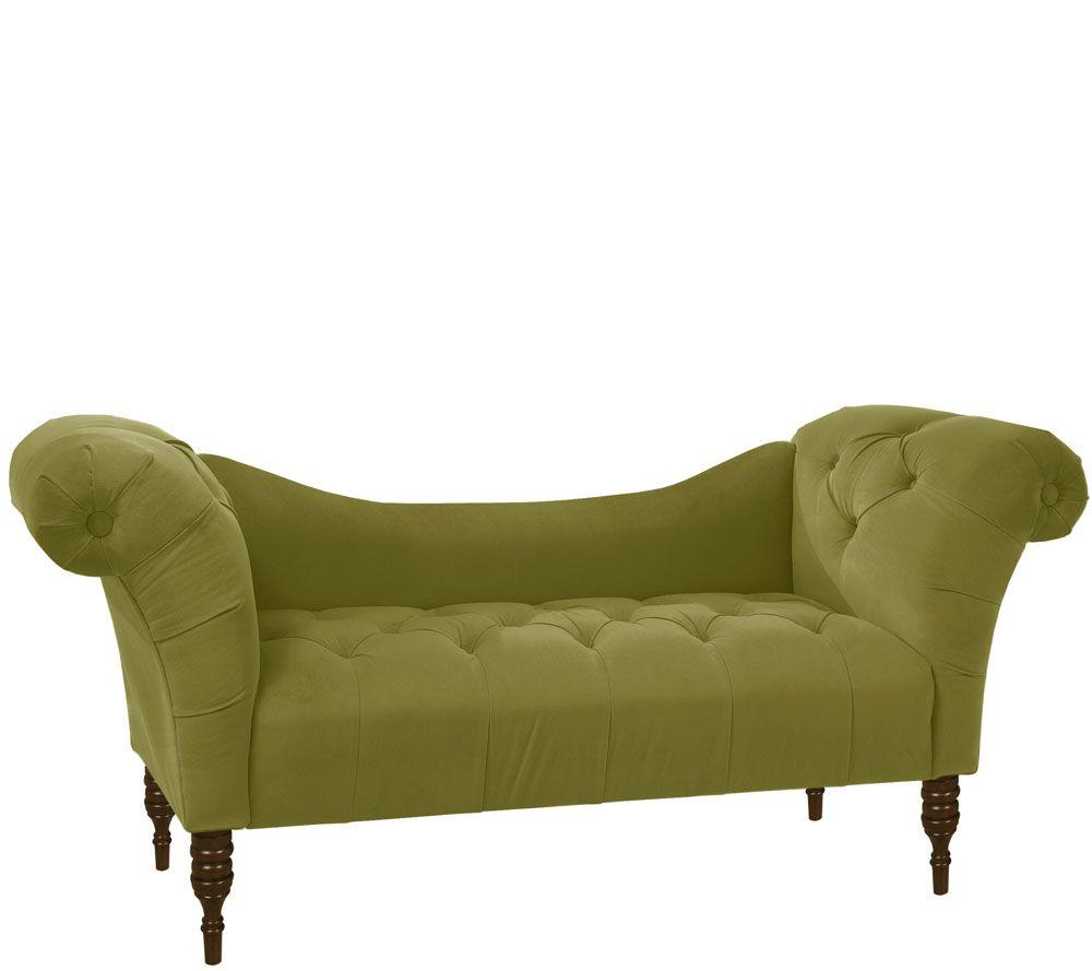 Genial Tufted Velvet Chaise Lounge U2014 QVC.com