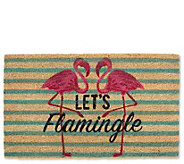 Lets Flamingle Natural Coir Doormat with  Nonslip Back - H313644