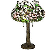 Tiffany Style 22-1/2H Dragonfly Flower Table Lamp - H355944