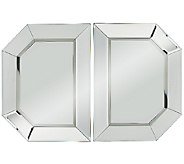 2-Piece Beveled Glass Mirror Sections by Valerie - H202045