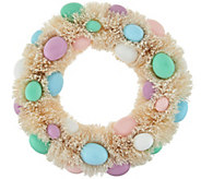 12 Easter Egg Bottlebrush Wreath by Valerie - H210545