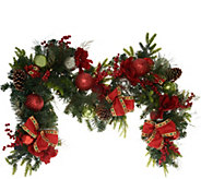 Indoor/Outdoor Illuminated 6 Holiday Cheer Garland by Valerie - H216545