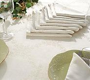 Casa Zeta-Jones 60 x 120 Tablecloth & 10 Napkin Set with Stain Resist - H216745