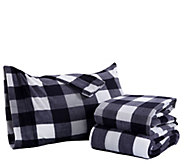 Berkshire Blanket Buffalo Plaid Microfleece Full Sheet Set - H302845