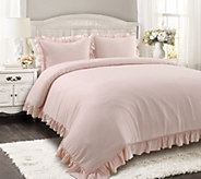 Reyna 3-Piece FL/QN Blush Comforter Set by LushDecor - H303645