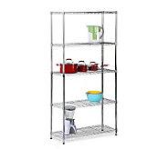 Honey-Can-Do Five-Tier Chrome Storage Shelves -200 lbs - H184046