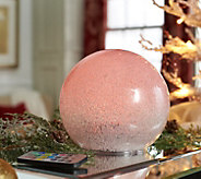 6.5 Glass Ice Crystal Sphere with Light Show by Valerie - H212446