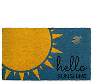 Hello Sunshine Natural Coir Doormat with Nonslip Back - H313646