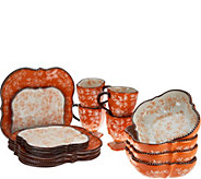 Temp-tations Floral Lace 16-Piece Square Dinnerware Set - H212347