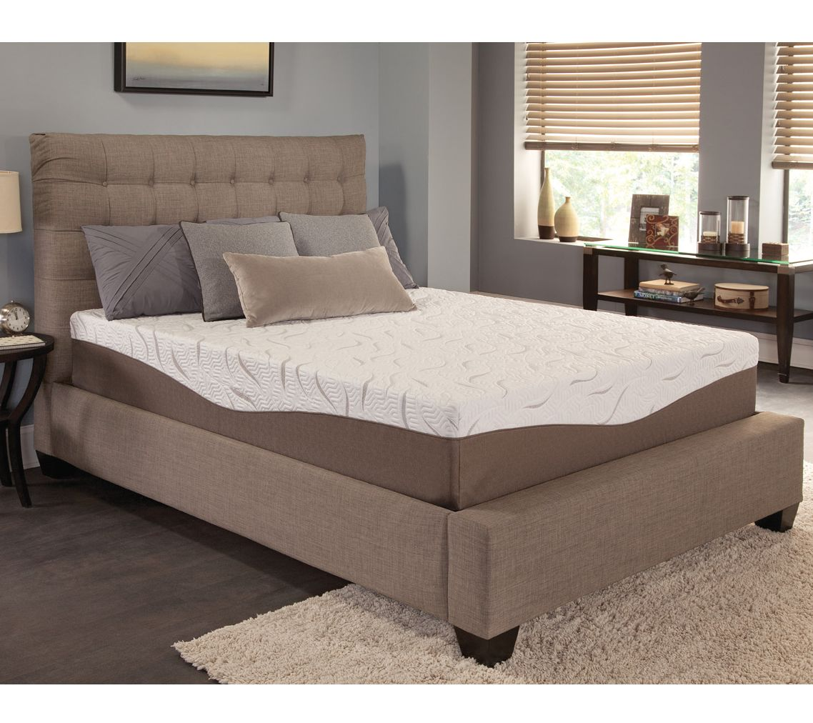 energize 12 gel memory foam queen mattress page 1 qvc com