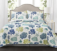 Coastal Reef 3-Piece Full/Queen Quilt Set by Lush Decor - H297647