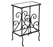Scrolled Iron and Glass Magazine Table - H155648