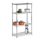 Honey-Can-Do Four-Tier Chrome Storage Shelves -200 lbs - H184048