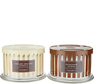 HomeWorx by Harry Slatkin Set of 2 3-Wick Ice Cream Candles - H215248