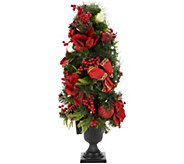 Indoor/Outdoor Illuminated 36 Holiday Cheer Urn Tree by Valerie - H216548