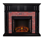 Vaughn Faux Brick Electric Media Fireplace - H291048