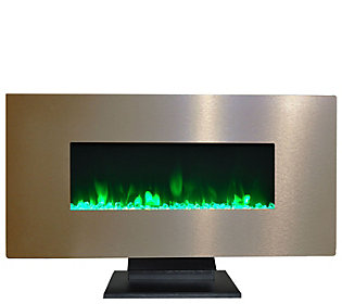 "Cambridge 42"""" Electric Fireplace w/ Crystal Roc k Display"