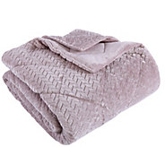 Berkshire Blanket Braided Velvet Soft King Comforter - H304148