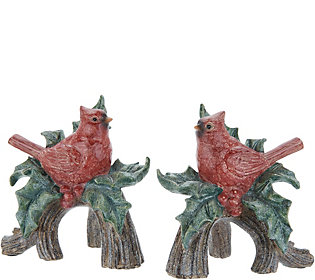 Set of 2 Cardinals Perched on Branches