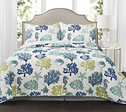 Coastal Reef 3-Piece King Navy/Blue Quilt Set by Lush Decor - H297649