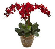 Seasonal Triple-Stem Orchid Arrangement by Nearly Natural - H300949