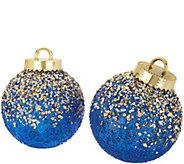 Kringle Express Indoor/Outdoor S/2 Glitter & Sequin Ornaments - H211550