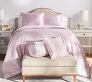 Casa Zeta-Jones Painted Damask Satin Queen Comforter Set - H217150