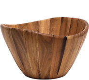 Lipper Acacia Large 12 x 7 Wave Bowl - H292450
