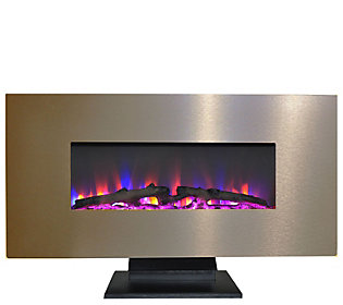 """Cambridge 42"""""""" Electric Fireplace w/ Color Log D isplay"""