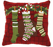 Mina Victory Stockings Multicolor 18 x 18 Throw Pillow - H301650