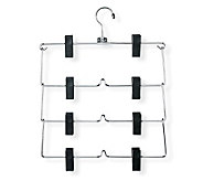 Honey-Can-Do Set of 2 Four-Tier Fold-Up Skirt/Pant Hangers - H356650