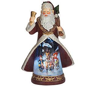 Illuminated Figure with Vintage Holiday Sceneby Valerie