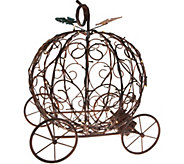 Plow & Hearth Illuminated Metal Pumpkin Carriage with Timer - H211651