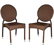 Safavieh Valdez Set of 2 Indoor/Outdoor Stacking Side Chairs - H283251