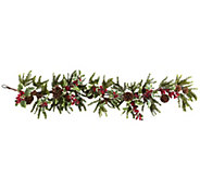54 Holly Berry Garland by Nearly Natural - H301151