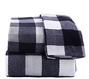 Berkshire Blanket Buffalo Plaid Microfleece Twin Sheet Set - H302851