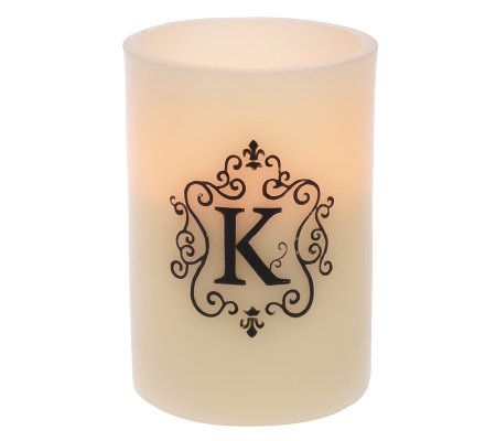 flameless candles with timer 5 quot scented flameless monogram candle with timer page 1 28703