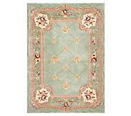 Royal Palace 5x7 Fleur de Lis Wool Rug with Scroll Broder - H210152
