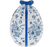 HomeWorx by Harry Slatkin Ceramic Egg w/ 12oz. Candle Drop-In - H213653