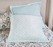 Set of 2 Velvety Soft Filled Euro Shams by Valerie - H217953